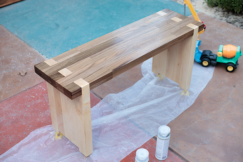 Weekend distractions, part deux: a bench, and stuff